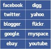 Todo o facebook Fotografia de Stock