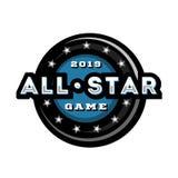 Todo o jogo da estrela, projeto do logotipo do molde Ilustração do vetor ilustração stock