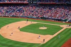 Todo o jogo de basebol americano Imagem de Stock Royalty Free