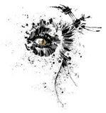 Todo o olho de gato de vista em um formulário abstrato ilustração stock