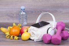 Todo o que é necessário para a formação e a vida saudável Fotos de Stock