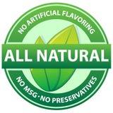 Todo o selo natural do alimento ilustração stock