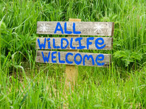 Todo o sinal bem-vindo dos animais selvagens Fotografia de Stock Royalty Free