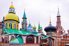 Todo o templo das religiões de Kazan imagens de stock