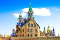 Todo o templo das religiões em Kazan, Rússia fotografia de stock royalty free