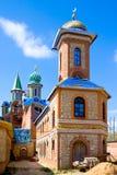 Todo o templo das religiões em Kazan, Rússia foto de stock