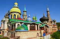 Todo o templo das religiões na cidade de Kazan, Rússia foto de stock