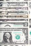 Todo o U S notas de dólar em um fundo do dinheiro Imagens de Stock