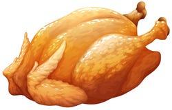 Todo roasted ou galinha do BBQ ilustração do vetor