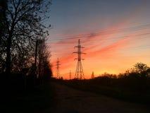 Todo tiene su puesta del sol fotografía de archivo libre de regalías