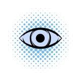 Todo-vendo o ícone da banda desenhada do olho ilustração royalty free