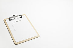 Todolist Beige Royalty Free Stock Photo