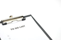 Todolist black Stock Photography