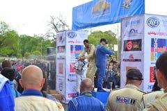 Todor Slavov op podium Stock Fotografie