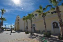 Todos桑托斯镇教会,南下加利福尼亚州,墨西哥 免版税库存图片