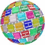 Todos é esfera extraordinária diferente original especial do globo Imagem de Stock Royalty Free