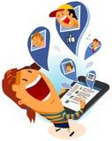 Todos em Facebook Fotografia de Stock