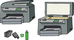 Todos en una impresora Imágenes de archivo libres de regalías