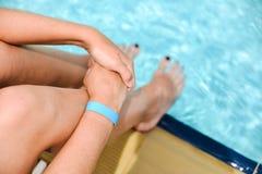Todos inclusivos en la piscina Fotografía de archivo
