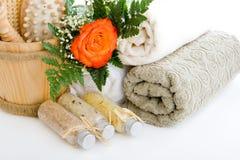 Todos lo que usted necesita para el sauna Foto de archivo libre de regalías