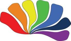 Todos los colores del arco iris Imagenes de archivo