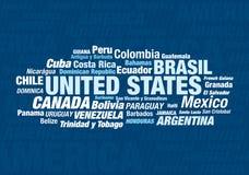 Todos los países americanos Imagen de archivo libre de regalías