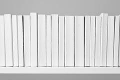 Todos os livros brancos Foto de Stock Royalty Free