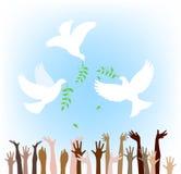Todos os povos procuram a paz ilustração stock