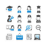 Todos os tipos do ícone do trabalho Fotografia de Stock Royalty Free