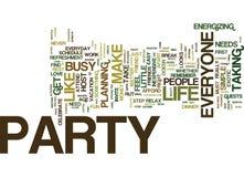 Todos precisa de party o conceito da nuvem da palavra do fundo do texto ilustração royalty free