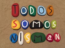 Todos Somos Nisman, de samenstelling van geheugenstenen Stock Afbeeldingen