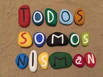 Todos Somos Nisman, minne stenar sammansättning Arkivbilder