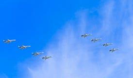 8 todos-w supersônicos de Sukhoi Su-24M (esgrimista) Foto de Stock Royalty Free