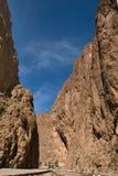 todra дороги gorge каньона Стоковые Фотографии RF