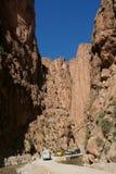Todra Georges - formation fantastique de montagne en MOIS image libre de droits