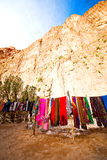 In todra gorge morocco   scarf shop Royalty Free Stock Images