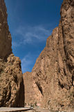 Todra Gorge road canyon Royalty Free Stock Photos