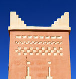 Todra  the history in maroc africa  minaret religion and  blue Royalty Free Stock Photos