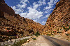 Todra I. Landscape view of the Todra Gorge, Tinghir, Morocco Stock Photography