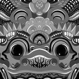 Todsakan смотрит на которое король демона в тайском Khon вектор Стоковые Изображения RF