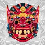 Todsakan смотрит на которое король демона в тайском Khon вектор иллюстрация штока
