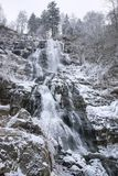 Todtnau Waterfall at winter time Stock Photography