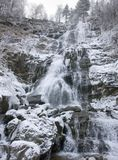 Todtnau Waterfall at winter time Stock Images