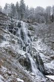 Todtnau Waterfall at winter time Royalty Free Stock Images