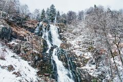 Todtnauer waterfalls at wintertime. Black forest, Germany Europe Stock Images