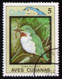 Todus multicolore und Karte von Kuba, circa 1983 Stockfotos