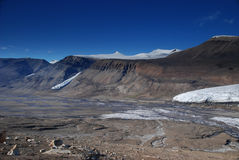 Toe Of Air Force Glacier. A view of the glacier in the Canadian high arctic  in Quttinirpaaq National Park on Ellesmere Island. Note the run off water forming Royalty Free Stock Image