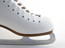 Toe and blade of a figure skate stock photography