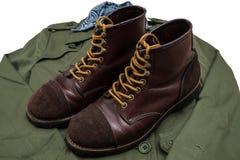 Toe cap boots / ironranger style Royalty Free Stock Image
