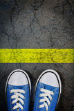Toe the line Royalty Free Stock Photography